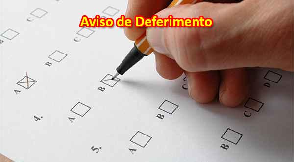 Aviso de Deferimento e Indeferimento de inscrições e convocação para aula teste.