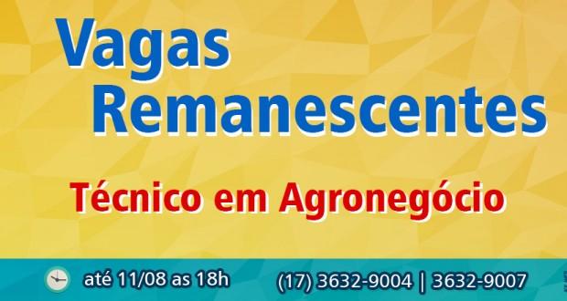 Seleção para Vagas Remanescentes do Curso Técnico em Agronegócio