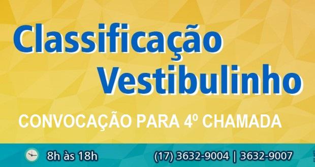 4° CHAMADA VESTIBULINHO ETEC 1º SEM. 2015