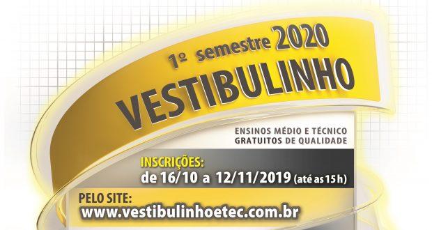 ETEC DIVULGA RELAÇÃO DE CURSOS PARA VESTIBULINHO 1º SEM/2020